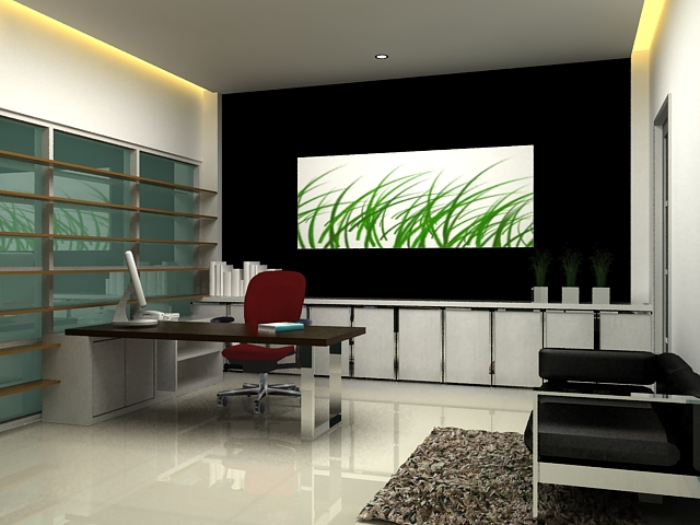 Office tanjung duren chairman room gitsar for Good interior design websites